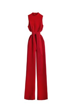 Inspired by the 70s with a separate tie that can be tied around the waist. The INES jumpsuit is the stand-out piece of the season. It's a great wedding or smart dinner outfit. The body sits neat and fitted, whist the trouser creates a neat, straight silhouette down to the ground. Turtleneck