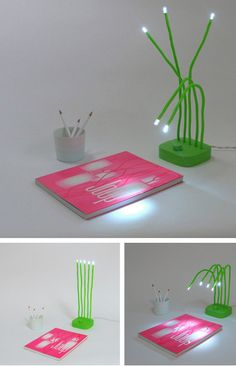 FRESH Lamp by Victor Vetterlein    A cool lamp design inspired by nature. Wet grass is bent, due to heavy moisture, and water droplets are visible strengthening sunlight.