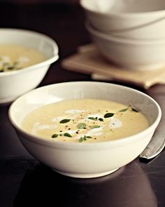 Easy Vichyssoise with Goat Cheese  - via Sweet Paul