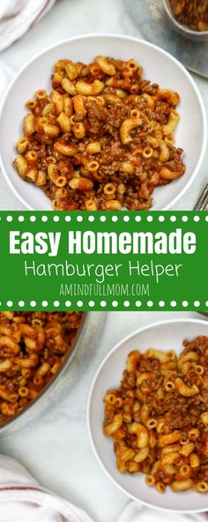 Healthy Homemade Hamburger Helper Skillet: A boxed classic has been given a healthy upgrade, but yet still comes together in one pan for an easy, pleasing family meal.  30 Minute Recipe   Easy Family Dinner   Easy Pasta Dinner   Kid Friendly Dinner   Easy Family Dinner