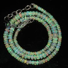 """39 Ctw 1 Strands 3 to 6 mm 16"""" Beads necklace Ethiopian Welo Fire Opal  2199"""