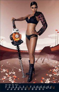 Calendario Stihl.174 Best Stihl Images Chainsaw Calendar Girls Hand Tools