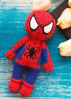 Crochet Spiderman PDF Amigurumi Free Pattern - Lovelycraft