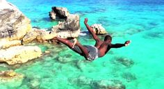 Pre-Summer Cliff Jumping Horseshoe Bay Bermuda 2012 - B.FITZ PRODUCTIONS  Song by: Remote Kontrol Dance Crew with Adventure Club Dubstep (Crave You)