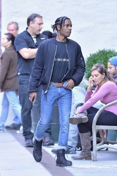 ASAP Rocky wearing  Alexander Wang Kent High Chukka Boot, Undercover No Borders Tee