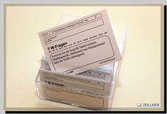 Lernkarten Box Karteikarten Karteikasten Wolfgang Zollner Marketing, Box, Learning Methods, Note Cards, Project Management
