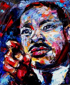 Dr. Marin Luther King art painting portrait by Debra Hurd, painting by artist Debra Hurd