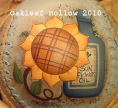 Hand Painted Sunflower Softball