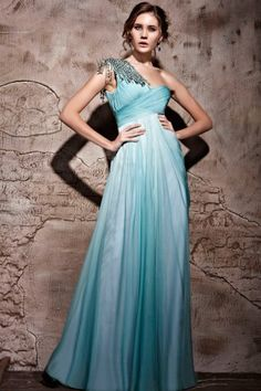 Turquoise bride maid and bride dress? Why not!