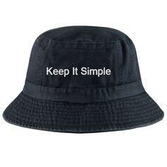 Keep It Simple Bucket Hat #simple #sustainable #futureminded #simplicity