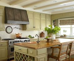 Kitchen with sage green cabinets – Better Homes & Gardens