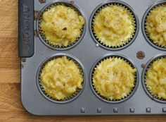 Everyone& favorite comfort food is now in cupcake form with this easy recipe for macaroni and cheese cupcakes! Mac And Cheese Cupcakes, Mac And Cheese Muffins, Mini Muffins, Simple Macaroni And Cheese Recipe, Macaroni Cheese, Mac Cheese, Macaroni Recipes, Cheese Bites, Pasta