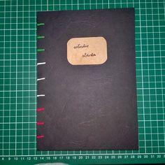 Handmade notebook by Optymistyka //zeszyt do słówek