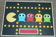 Punch Art - Handmade Birthday Card - Stampin Up Owl Punch - PACMAN