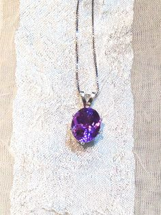 Alexandrite Necklace in Sterling Silver FULL Color Shift Purple/Blue $99.00.