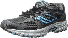 Saucony Womens Cohesion TR9 GreyBlackAQ 105 M US * You can get more details by clicking on the image. (This is an affiliate link) #WomensRunningShoes