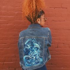 Just finished a shoot with the talented @taliahwh Hand painted jean jacket by @artscooldropout by domyenn