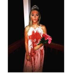 Carrie from the movie Carrie Literally Just 27 Halloween Costume Ideas That Are Reeeeeally Freaking Creepy Carrie Halloween Costume, Spirit Halloween Costumes, Creepy Halloween Costumes, Hallowen Costume, Halloween 2019, Halloween Outfits, Diy Costumes, Halloween Party, Costume Ideas