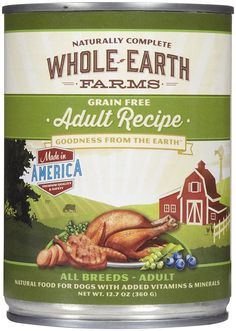 Merrick Whole Earth Farms Grain-Free Adult - 12 x 12.7 oz -- Want to know more, visit the site now : Dog food types