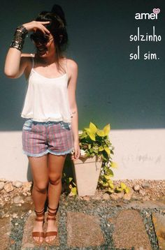Banho de sol☀️ #lojaamei #cropped #jeans #gladiadora #novidades