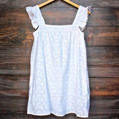 eyelet cotton tunic dress
