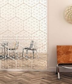Amasss modular space divider is made up of small branched forms