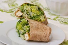 Caesar Wrap with Tofu Croutons and Broccoli Recipe