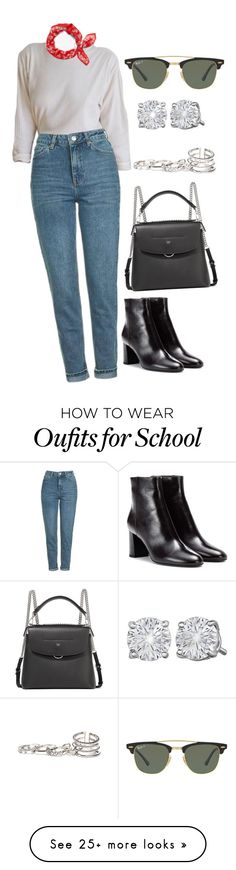 """""""Untitled #5212"""" by dudas2pinheiro on Polyvore featuring Topshop, rag & bone, Yves Saint Laurent, Fendi, Ray-Ban and GUESS"""