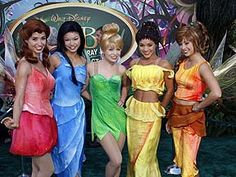 Real Life Pixie Hollow Fairies (Rosetta, Silvermist, Tinkerbell, Iridessa and Fawn) @ Chelsea pope which one are you being for Cali? Tinkerbell And Friends, Tinkerbell Fairies, Tinkerbell Party, Tinkerbell And Terence, Peter Pan And Tinkerbell, Fairy Pictures, Disney Pictures, Halloween 2018, Halloween Costumes