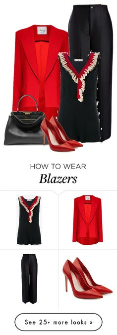 """""""Work Wear"""" by danewhite on Polyvore featuring Paul Brodie, Hebe Studio, Marni, Fendi and Alexander McQueen"""