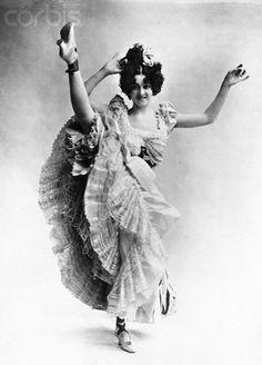 Ziegfeld Follies Can Can Dancer Saharet, 1895