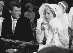 Johnny Hallyday und Sylvie Vartan, 1965.