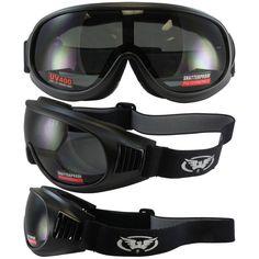 e2dd31016b Tump One-Piece Smoke Lens Matte Black Riding Goggles