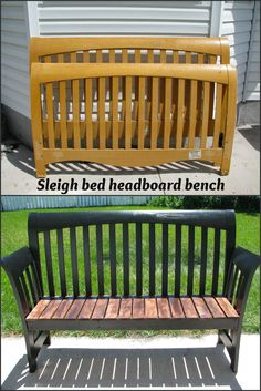 My So-Called DIY Blog: Sleigh bed headboard bench
