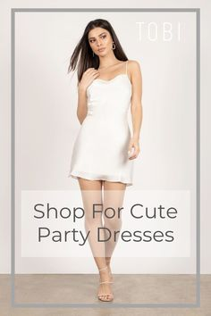 Tobi is here for all your party girl needs! Shop our sexy party dresses with plunging necklines, lace details and more! + Get off your first order! Cute Dresses For Party, Sexy Party Dress, Women's Fashion Dresses, Casual Dresses, Sundresses Women, Holiday Party Outfit, Night Out Outfit, Club Outfits, Party Outfits