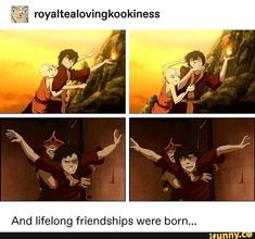 And lifelong friendships were born . Avatar Airbender, Avatar Aang, Avatar The Last Airbender Funny, The Last Avatar, Avatar Funny, Team Avatar, Zuko And Katara, Avatar Cosplay, Fire Nation