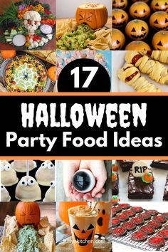 Here's 17 food ideas for your Halloween party that will blow your guest's minds. Take your Halloween party to another level of spooky this year! Easy Halloween Crafts, Halloween Food For Party, Halloween Cupcakes, Halloween Birthday, Diy Halloween Decorations, Holidays Halloween, Halloween Treats, Halloween Magic, Halloween Baking
