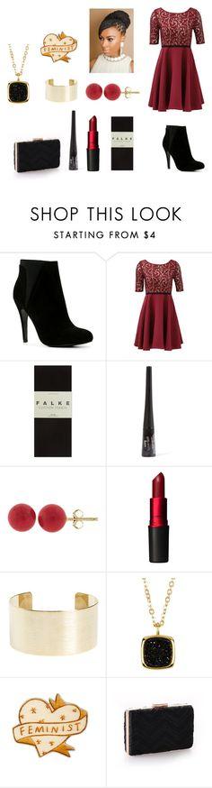 """All Dressed Up-Daisy"" by likewinteritself ❤ liked on Polyvore featuring ALDO, Slate & Willow, Falke, Pori, MAC Cosmetics, Panacea and SonyaRenée"