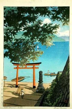 1931 - Hasui, Kawase - Nikko Chuzenji Lake, Utagahama