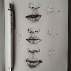 pencil drawings - Best 12 Page 792141021938785191 SkillOfKing Com Kpop Drawings, Pencil Drawings, Plant Drawing, Painting & Drawing, Art Graphique, Drawing Techniques, Art Tips, Drawing Sketches, Sketching