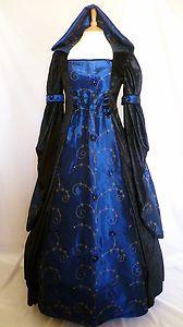 Medieval Renaissance Gothic Gown LARP WGW Hooded Dress Halloween Pagan 14 16 18 | eBay