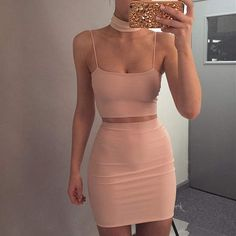 2017 Summer New Bandage Dress Stretch Tight Nightclub Lady Birthday Party Banquet Sexy Package Hip Leisure Holiday Color Wild Sexy Dresses, Cute Dresses, Dress Outfits, Casual Outfits, Fashion Dresses, Bandage Dresses, 90s Fashion, Girl Fashion, Kohls Dresses