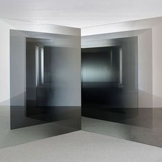 Larry Bell is on display at the White Cube gallery in London. #POSTmatter #LarryBell #exhibition #London #WhiteCube #gallery #sculpture #installation