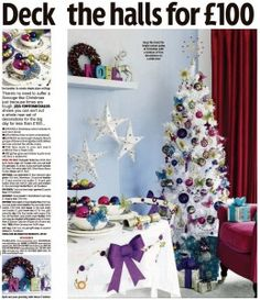 "Poundland Blog - Recently we have been featured in the Sunday Mirror ""Homes"" with Zena Alli where Jess Contomichalos shows us how to sort out a whole new set of decorations for Christmas for less than 100 pound"