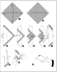 origami meeuw