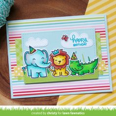 Colorful and Cute Wild for You Card by Christy! | Lawn Fawnatics
