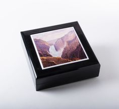 Large Jewelry Box featuring Lower Falls at Yellowstone