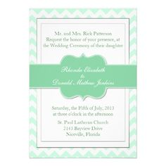 Discount DealsChic Mint Green Chevron Modern Wedding Invitationonline after you search a lot for where to buy