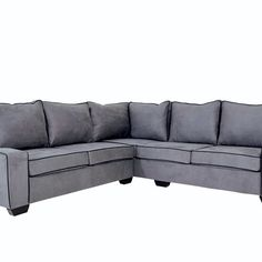 Enquire About the London Corner Couch Grey & Black Online