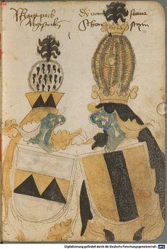 Ortenburger Wappenbuch Bayern, 1466 - 1473 Cod.icon. 308 u  Folio 40r